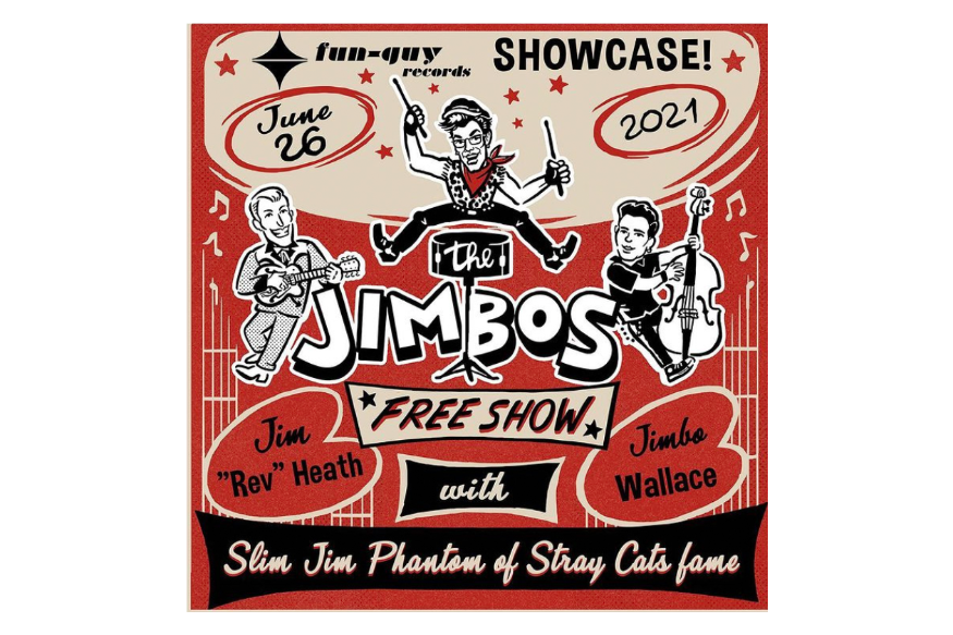 The Jimbos coming to the stage, as a Trio!